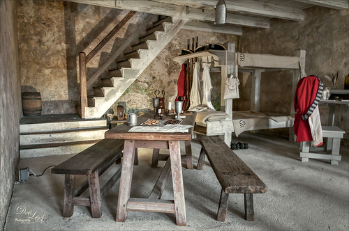 Sleeping Quarters at Castille de San Marcos in St. Augustine, Florida