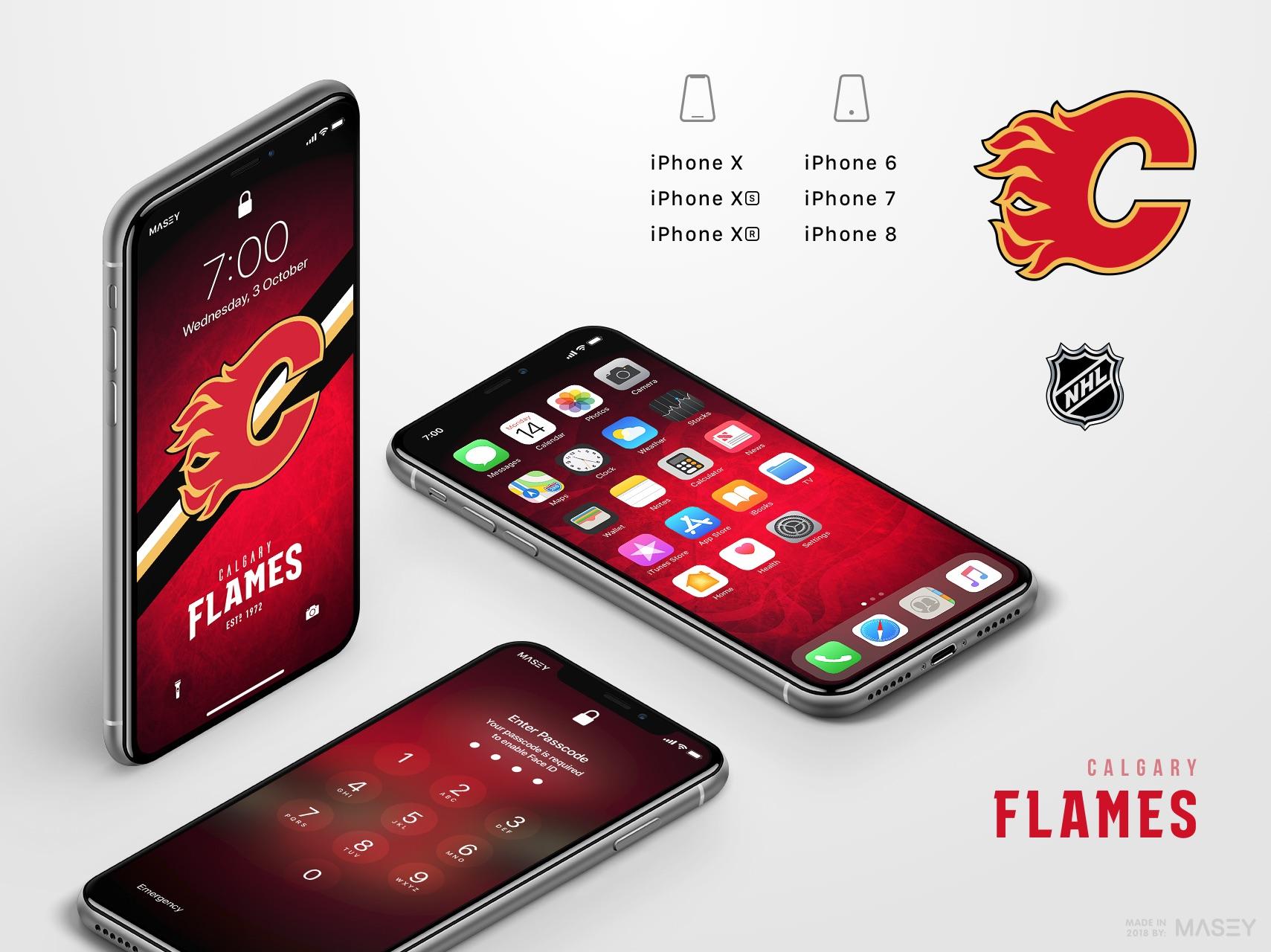 Calgary Flames iPhone Wallpaper