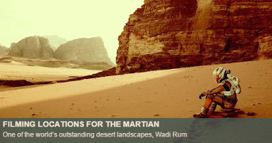 Where was The Martian filmed