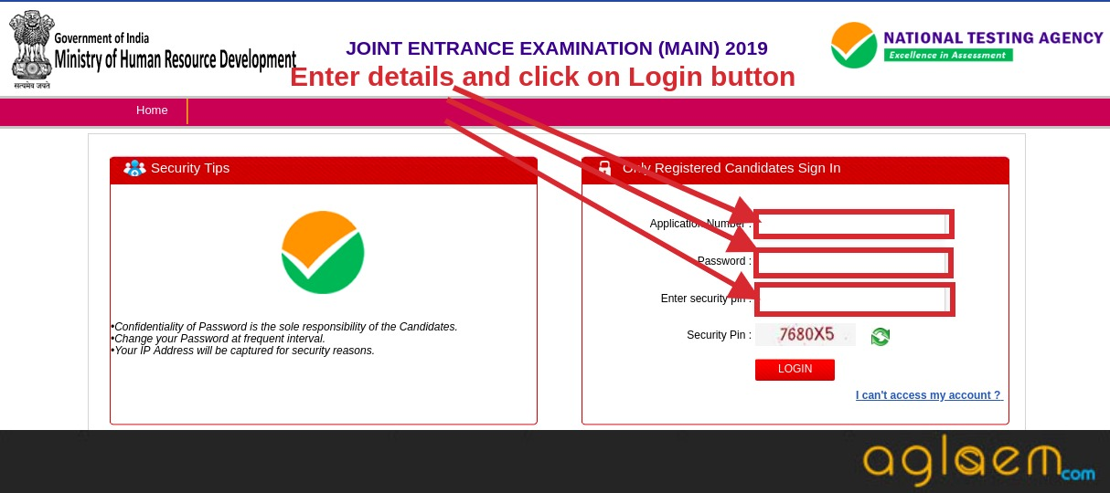 JEE Main 2019 Exam City Announced by NTA; Admit Card to be Available on 17 December