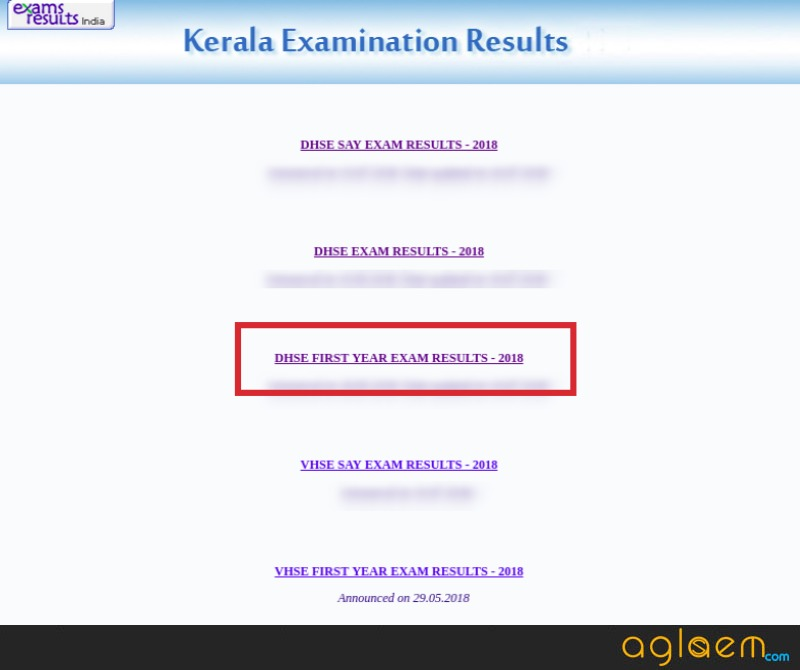 DHSE Kerala Plus One Improvement Result 2018