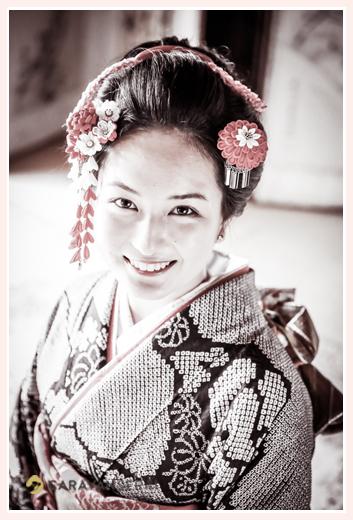 成人式前撮り写真のロケーション撮影 in 岐阜県下呂市/ご自宅・実家