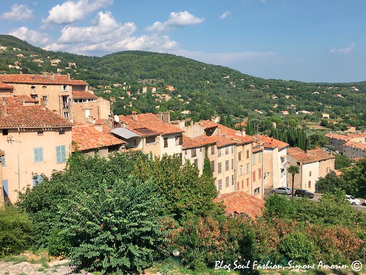 A linda aldeia medieval de Seillans com uma vasta área verde ao seu redor
