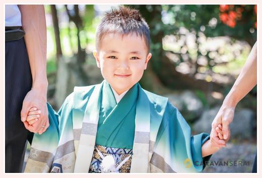 5歳の男の子の七五三ロケーション撮影