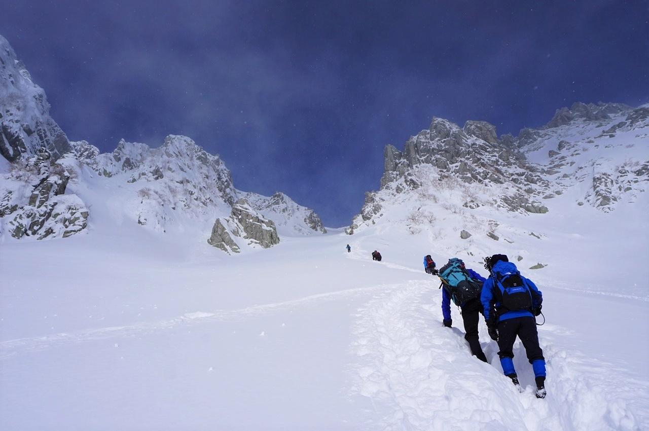 冬の木曽駒ヶ岳・八丁坂