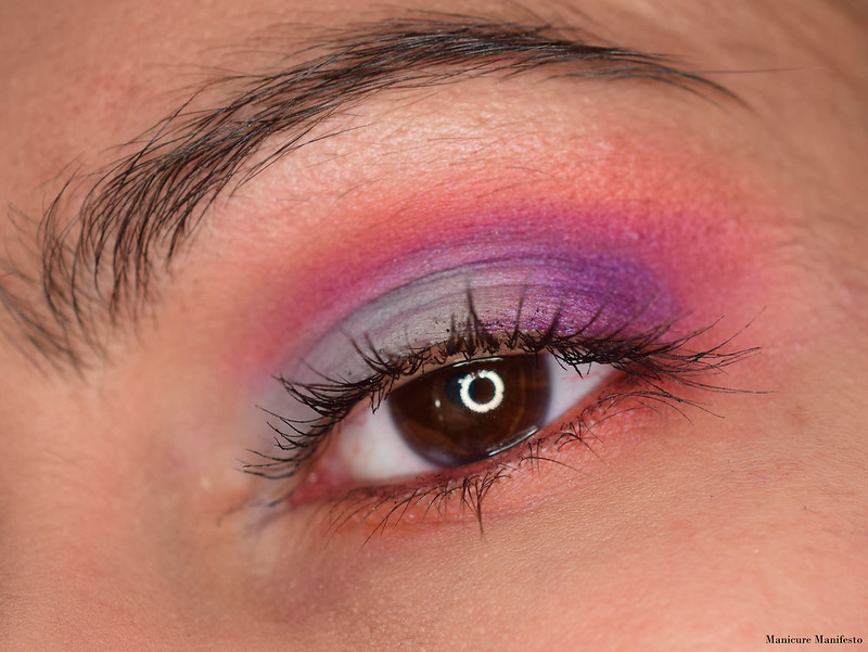 Pink and Purple Eyeshadow look