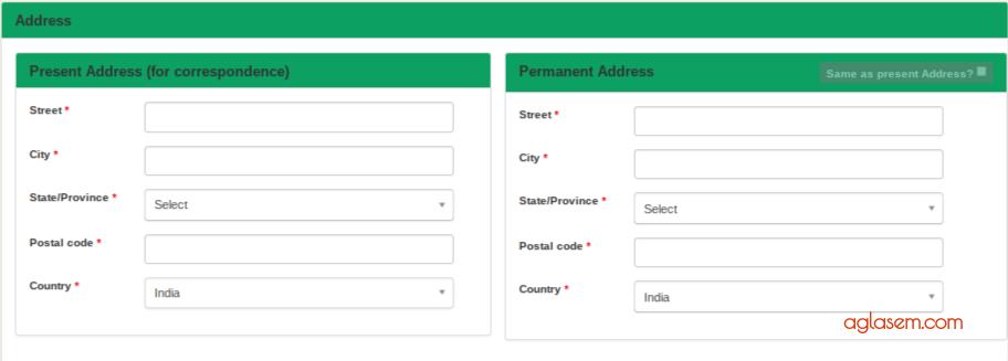 KIITEE MGMT 2019 Registration - Address Details