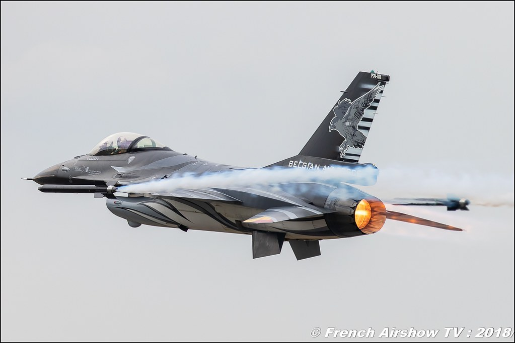 Belgian Air Force F-16 Solo Display BAFDAYS Kleine-Brogel 2018 BELGIAN AIR FORCE DAYS 2018 BA Kleine Brogel Canon Sigma France contemporary lens Meeting Aerien 2018