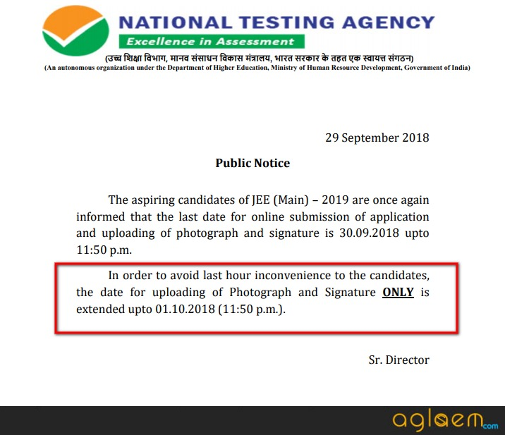 JEE Main 2019 -  Last Date To Upload Photograph And Signature Extended; Deadline 11:50 PM