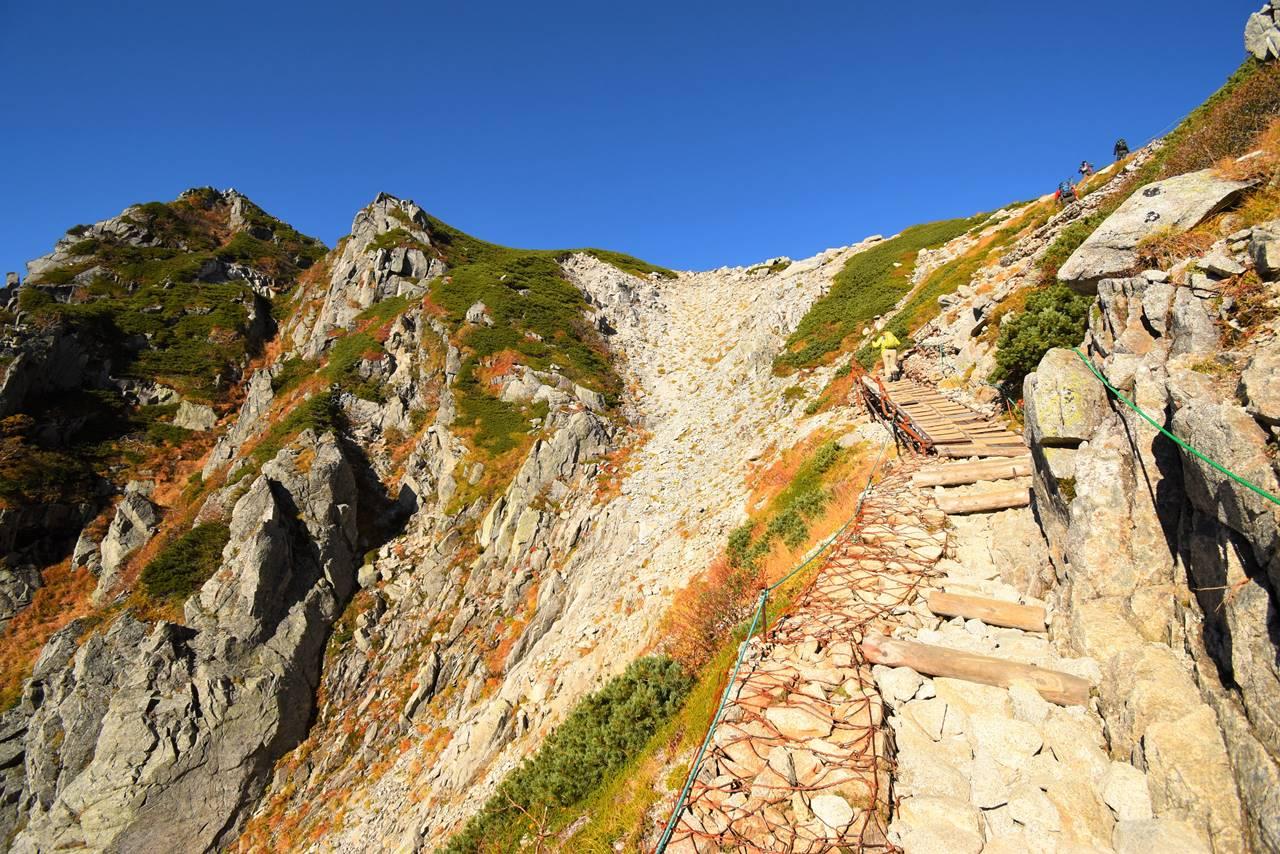 千畳敷カール・八丁坂の階段