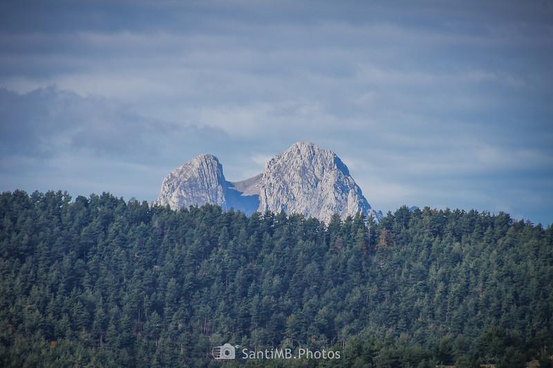 El Pedraforca desde los Rasos de Clarent