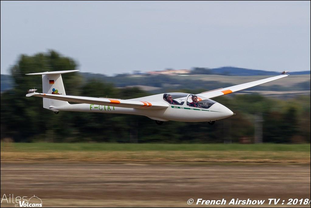 ask-21 F-CIAT , Planeur voltige , Ailes et Volcans - Aérodrome d'Issoire - Le Broc , Cervolix 2018 & La Montagne , Canon EOS , Sigma France , contemporary lens , Meeting Aerien 2018