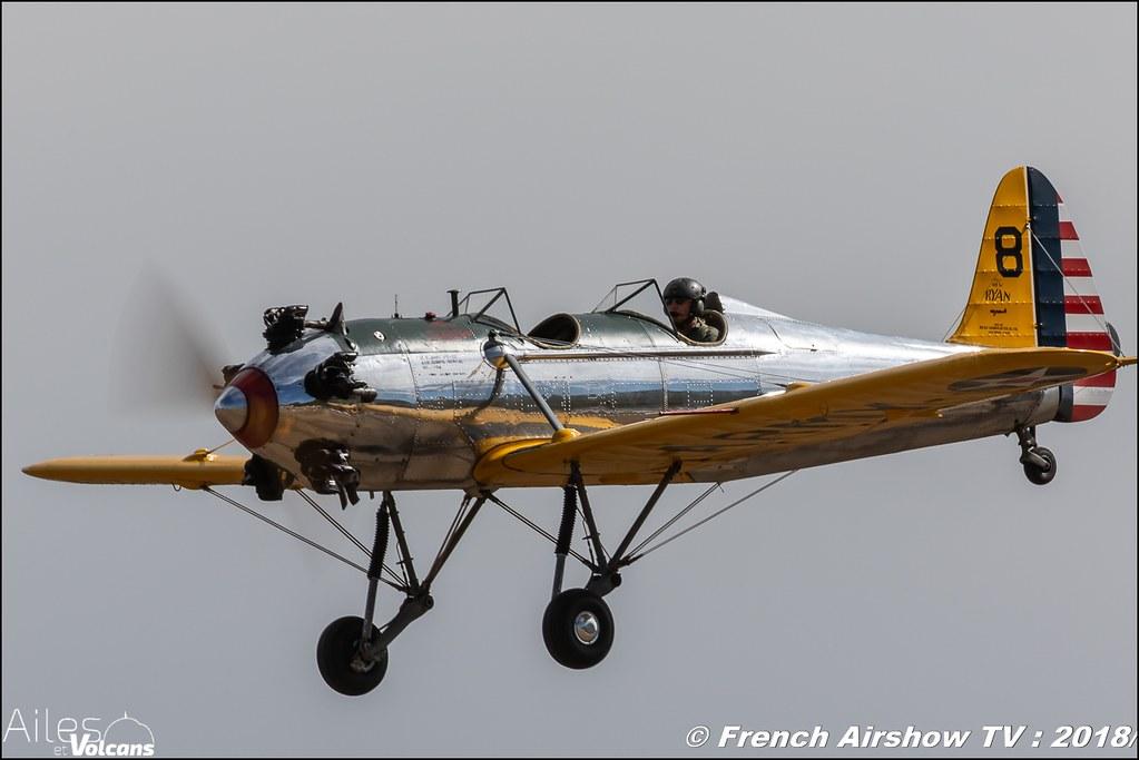 Ryan PT-22 Recruit N53018 , Ailes et Volcans - Aérodrome d'Issoire - Le Broc , Cervolix 2018 & La Montagne , Canon EOS , Sigma France , contemporary lens , Meeting Aerien 2018