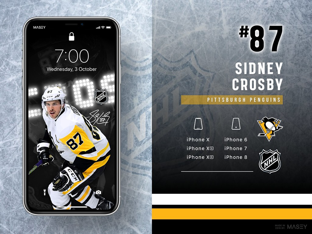 Sidney Crosby (Pittsburgh Penguins) iPhone Wallpaper