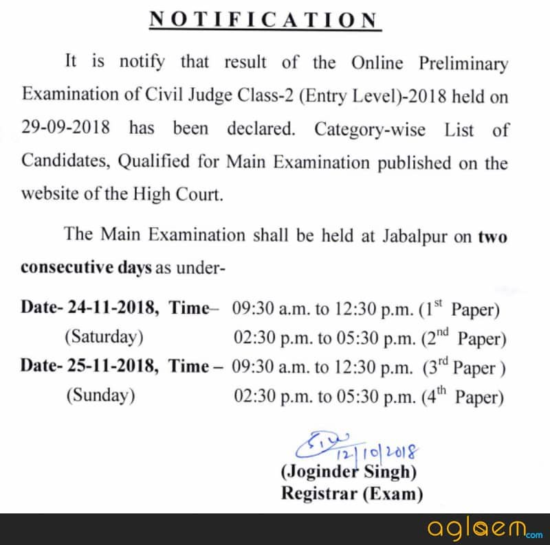 Notice Regarding examination dates