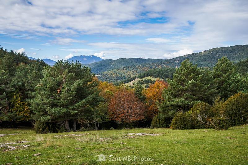 La Serra d'Ensija desde los Rasos de Clarent