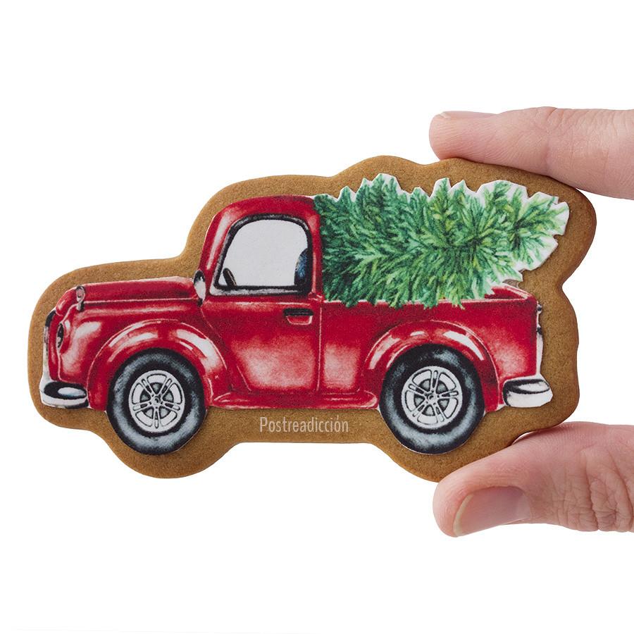 galleta camion navideño