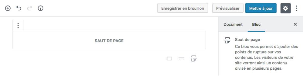 Modifier saut de page