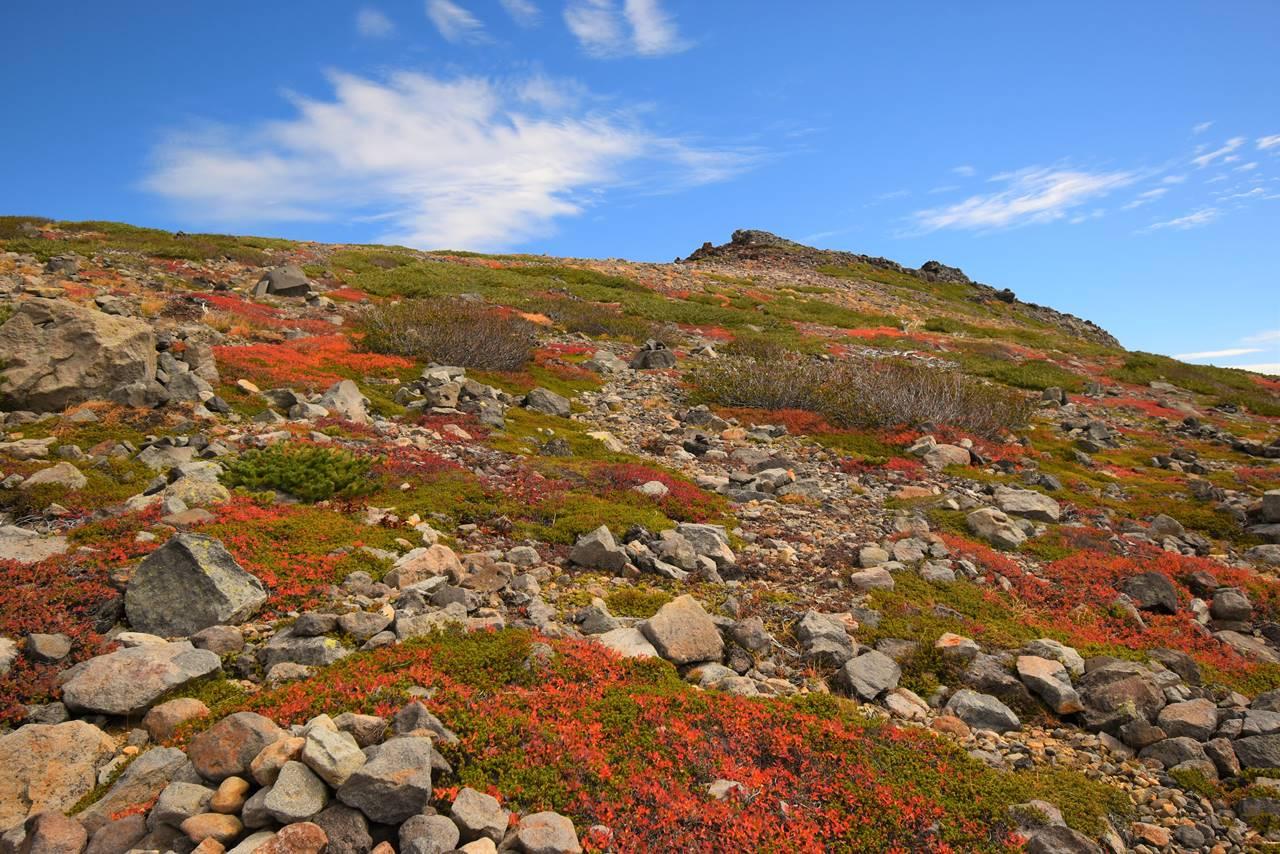 御嶽山・サイノ河原の紅葉