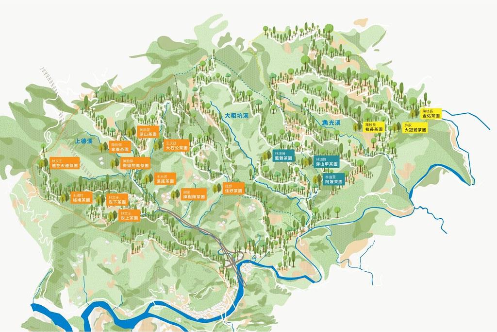 藍鵲茶提出「流域收復」的策略,先鎖定坪林的三個集水區(漁光、上德、大粗坑)。