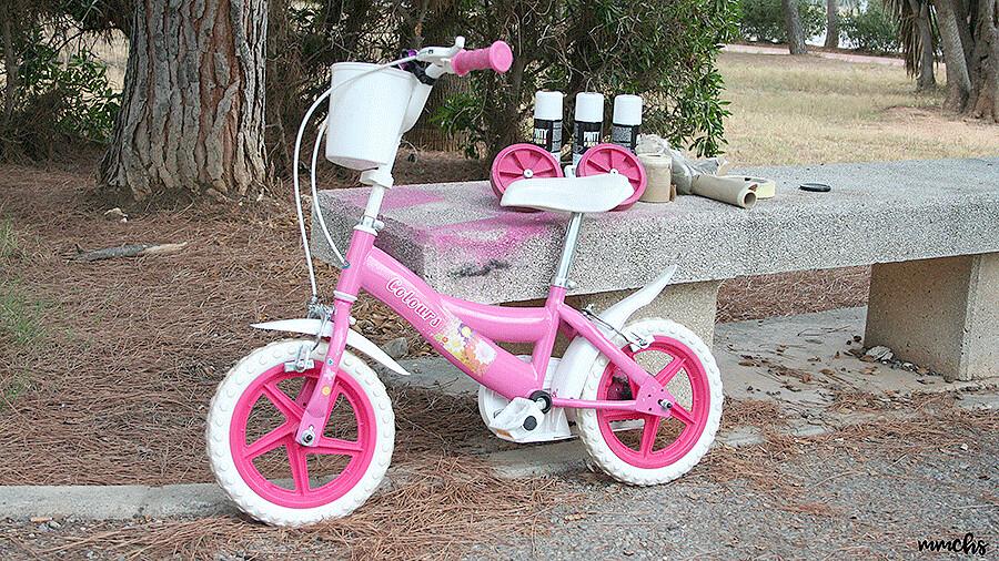 pintar una bici para niño
