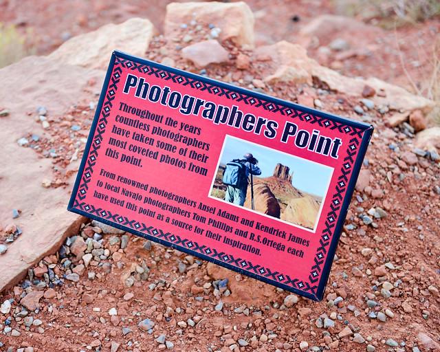 Punto de los fotógrafos en Monument Valley