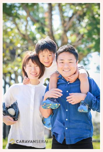 公園で家族写真・ファミリーフォトのロケーション撮影(愛知県豊田市)