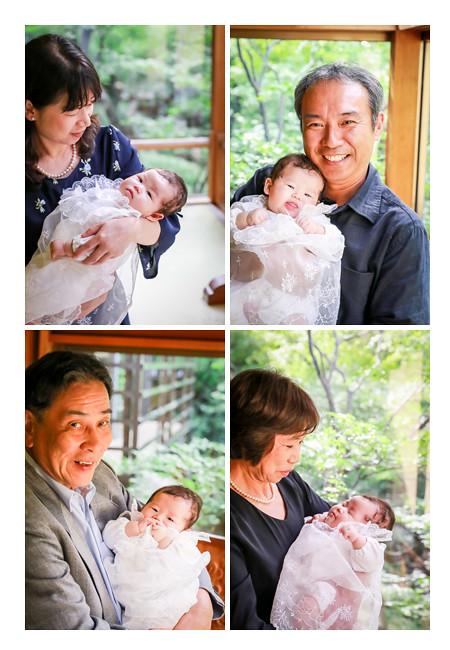 100日祝い おじいちゃま、おばあちゃまが赤ちゃんを抱っこ