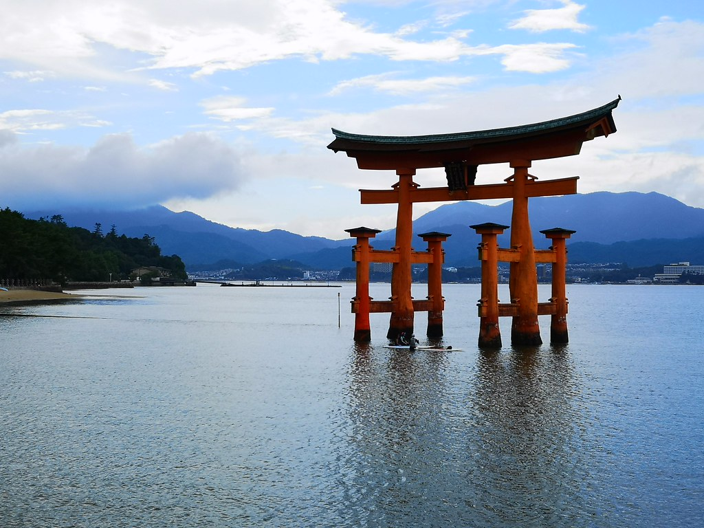 You'll find yourself taking a thousand pictures of the floating O-torii like we did. The vermilion gates look different every time the clouds shift as the sky and water change colour as well.