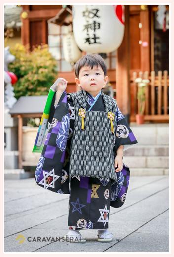伊奴神社で七五三(名古屋市西区)♪3歳の男の子