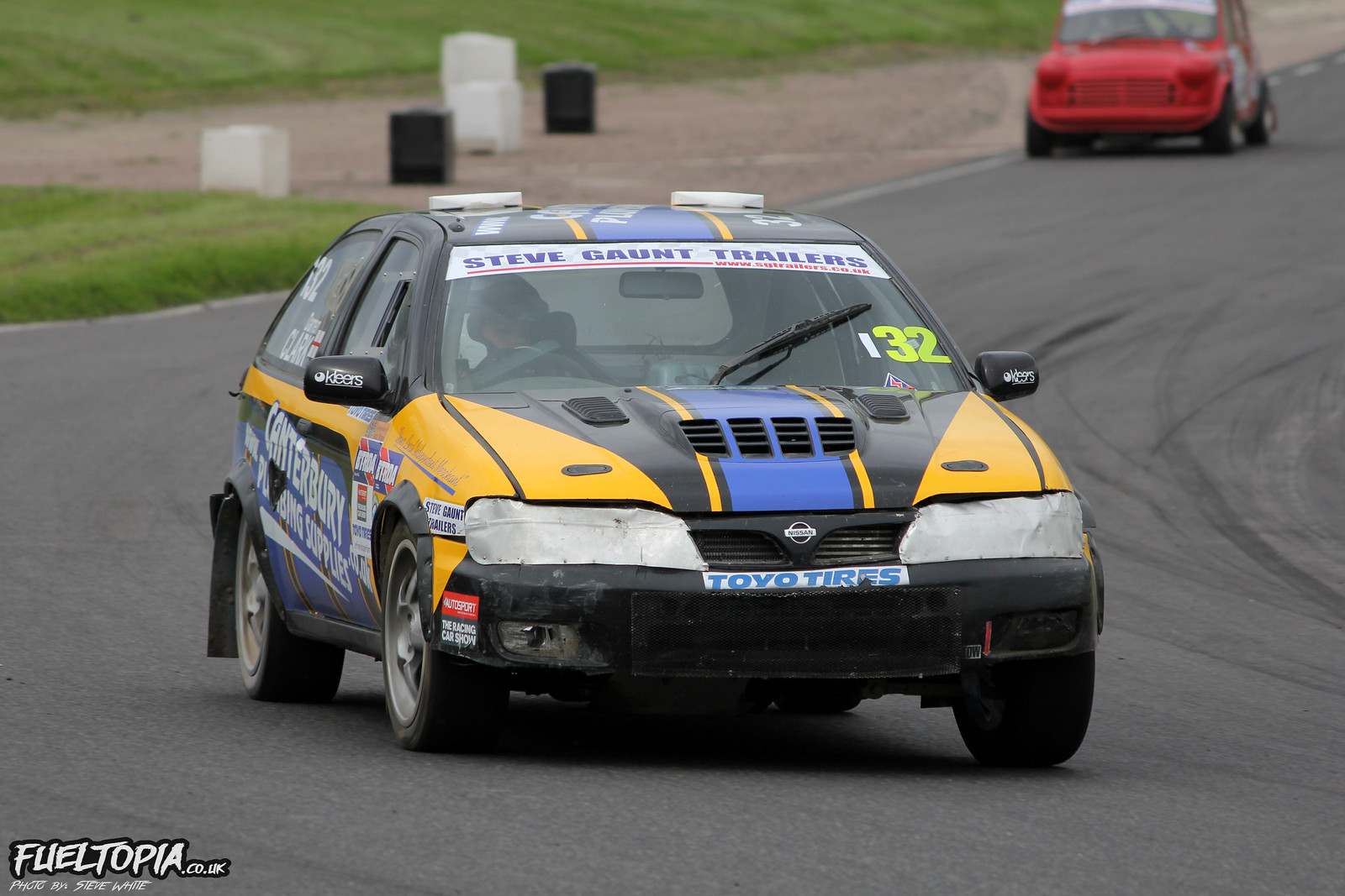 Darren Clark Nissan Almera Lydden Hill BTRDA Rallycross Championship 2018 Steve White Fueltopia