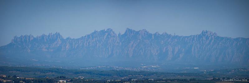 Panorámica de Montserrat desde Sant Miquel d'Olèrdola