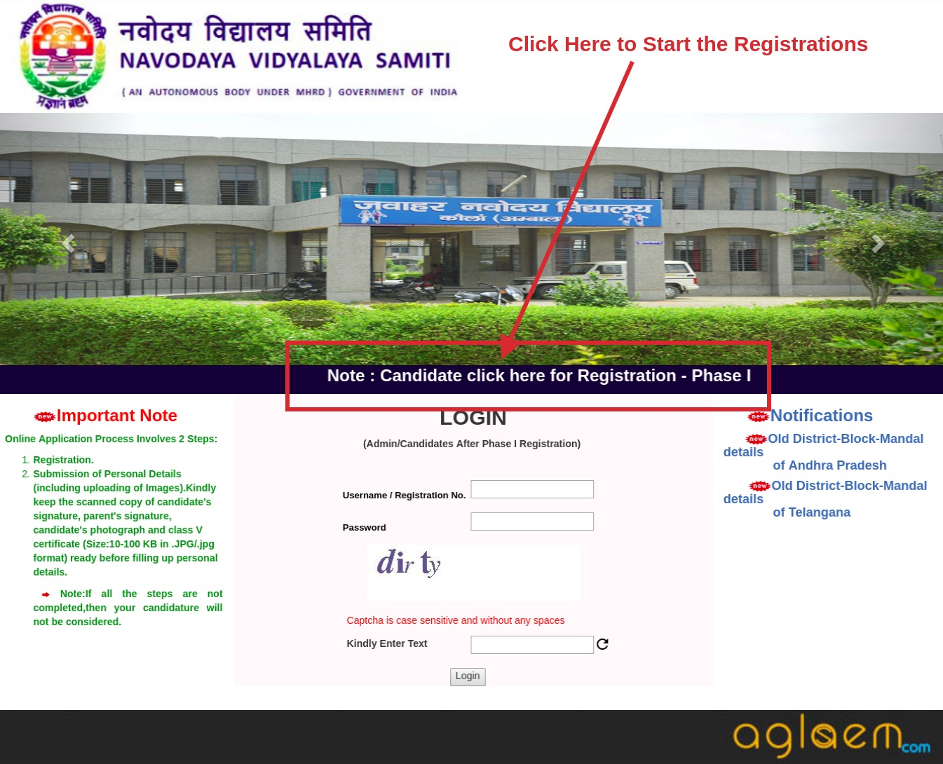 JNVST Application Form 2019 for Class 6