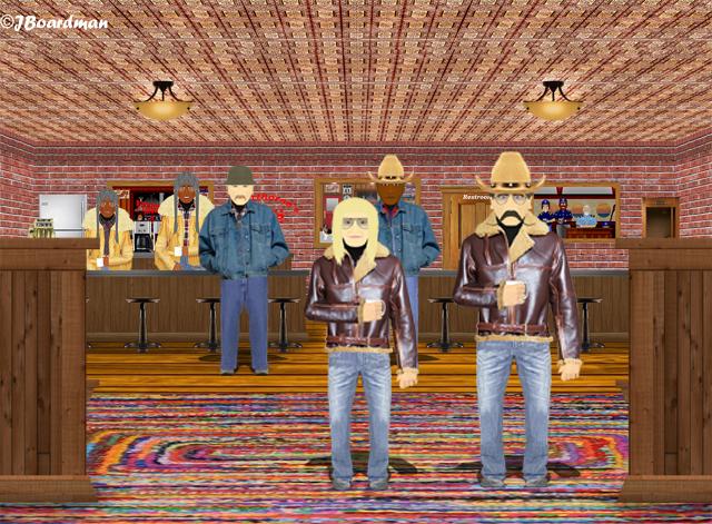 Chris and Wyatt Earp walked into Silverthorn's ©J. Boardman