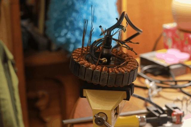 Намотка статора мотора