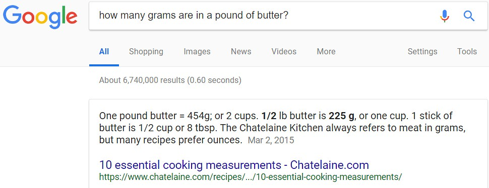 Mike Thinks Parameters How Many Sticks Of Butter Are Contained