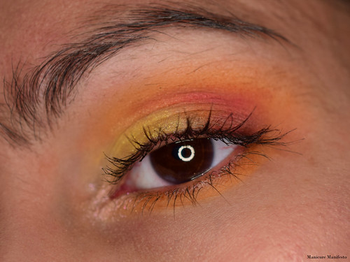 Orange eyeshadow tutorial