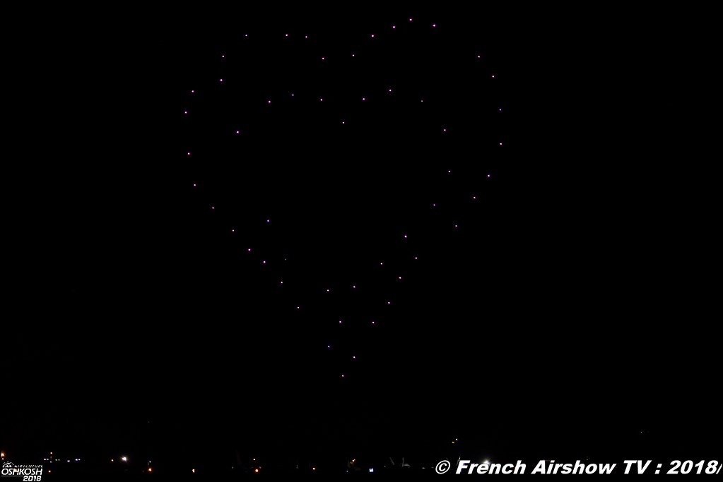 Great Lakes Drone Company Drone Light Show to Illuminate Night Sky at AirVenture EAA Oshkosh 2018