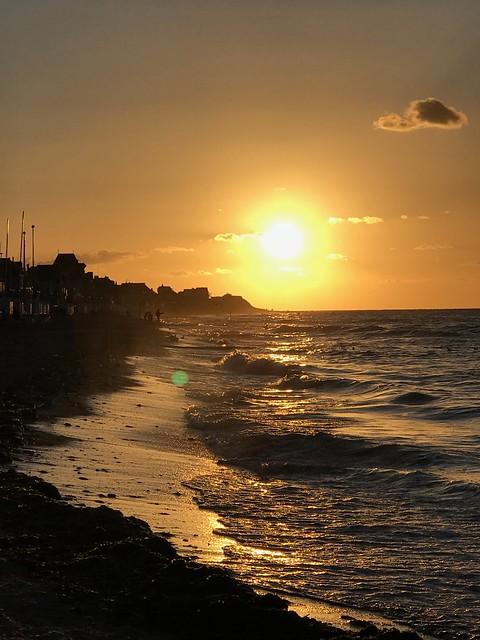 Coucher de soleil sur la Manche
