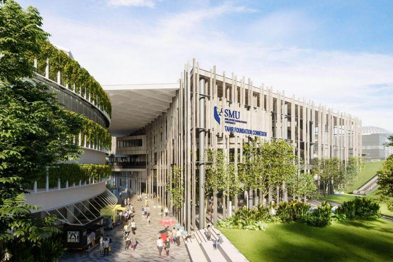 新加坡管理大學(SMU)首座「現場淨零能耗建築」示意圖。圖片轉載自SMU。