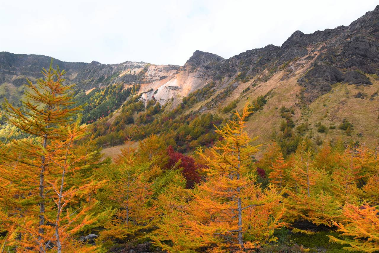紅葉と浅間山外輪山