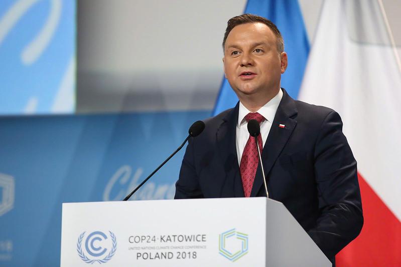 波蘭總統杜達在COP24發表談話