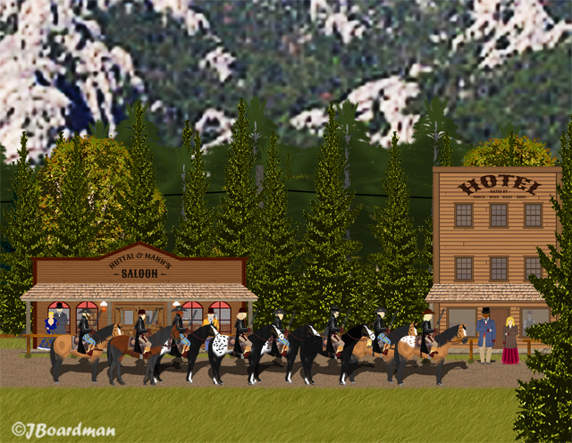 The Posse arrived in Deadwood ©J. Boardman