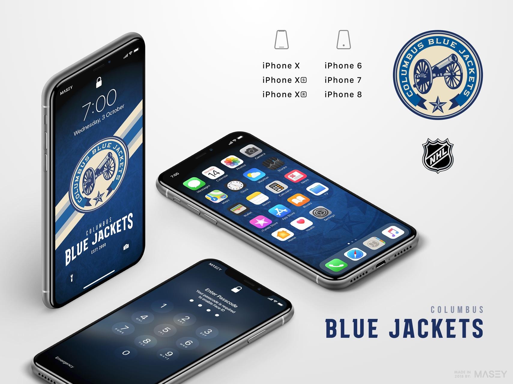 Columbus Blue Jackets iPhone Wallpaper
