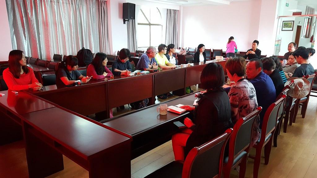 參訪團與高黎貢山保山管護局騰衝分局進行交流。攝影:郭志榮