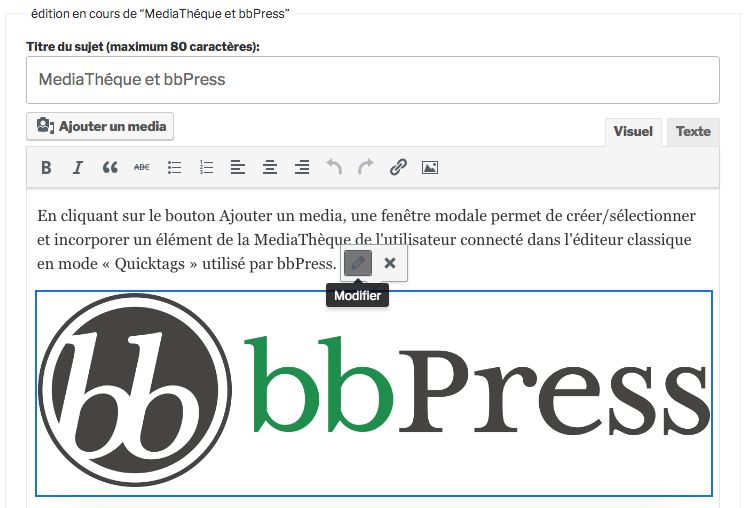 MediaThèque et bbPress