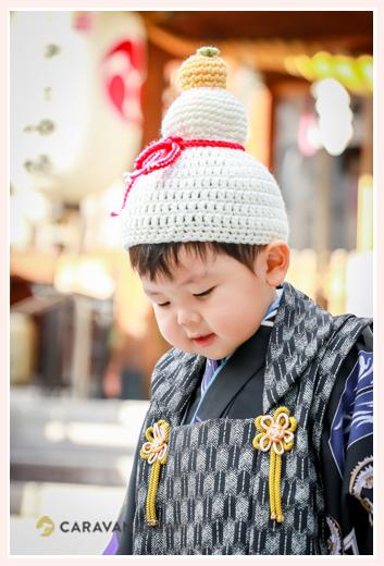 七五三 鏡餅の帽子