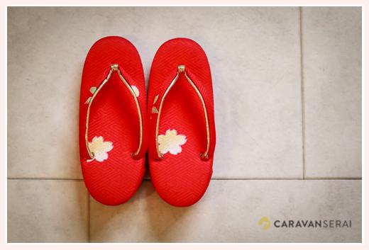七五三 女の子 赤い草履