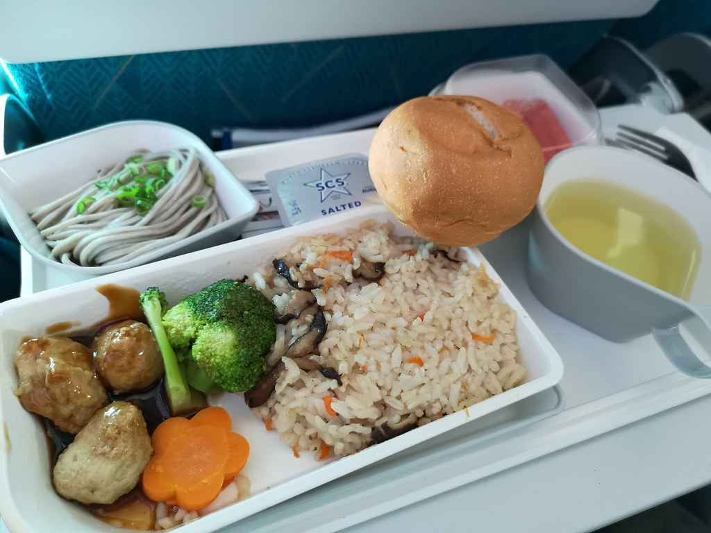 You can't go hungry on a SilkAir flight. Here's my breakfast, details in text below.