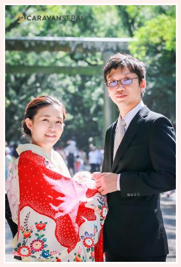 初秋のお宮参り 名古屋の神社
